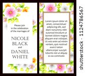 invitation with floral... | Shutterstock .eps vector #1124786567