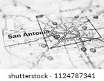 san antonio  usa map background | Shutterstock . vector #1124787341