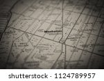 manhattan on usa map | Shutterstock . vector #1124789957