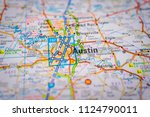 austin  usa map background | Shutterstock . vector #1124790011
