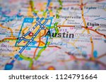 austin  usa map background | Shutterstock . vector #1124791664