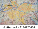 pittsburgh on us map | Shutterstock . vector #1124793494