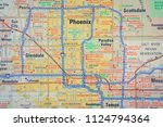 phoenix on usa map | Shutterstock . vector #1124794364