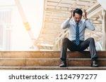 business man failed to feeling... | Shutterstock . vector #1124797277