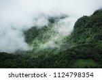 landscape of minimal mountains... | Shutterstock . vector #1124798354