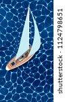 sailing ship vertical flyer... | Shutterstock .eps vector #1124798651