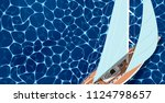 sailing ship banner with space... | Shutterstock .eps vector #1124798657