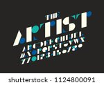 vector of stylized modern font... | Shutterstock .eps vector #1124800091