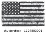 grunge usa flag.vintage flag of ... | Shutterstock .eps vector #1124803001
