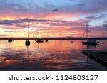 beautiful summer evening nature ... | Shutterstock . vector #1124803127