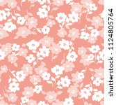 flower illustration pattern  i... | Shutterstock .eps vector #1124805764