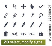 select  modify signs... | Shutterstock .eps vector #112480607