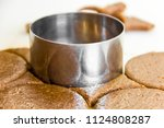 cutting cookies from the... | Shutterstock . vector #1124808287