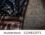 usa flag vintage background | Shutterstock . vector #1124812571