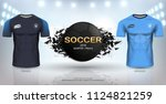 football cup 2018 world... | Shutterstock .eps vector #1124821259