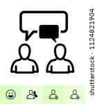 chat application icons with... | Shutterstock .eps vector #1124821904