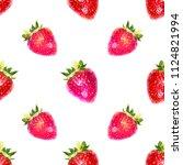 seamless watercolor pattern... | Shutterstock . vector #1124821994