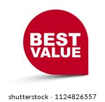 red vector banner best value | Shutterstock .eps vector #1124826557