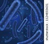 vector micro bacterium or virus ... | Shutterstock .eps vector #1124833631