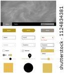 dark yellow vector ui ux kit...