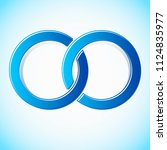 interlocking circles stylized... | Shutterstock .eps vector #1124835977