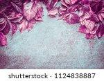 beautiful pink autumn wild... | Shutterstock . vector #1124838887