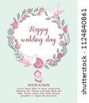 wedding invitation. happy... | Shutterstock .eps vector #1124840861
