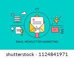 email newsletter  opening email ... | Shutterstock .eps vector #1124841971
