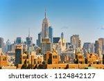 new york  usa  lower manhattan  ...   Shutterstock . vector #1124842127