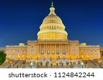 united states capitol  capitol... | Shutterstock . vector #1124842244