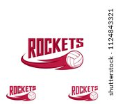 rocket volleyball logo for the... | Shutterstock .eps vector #1124843321
