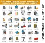 database and network vector... | Shutterstock .eps vector #1124844104
