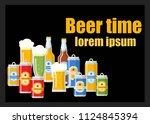 beer festival flat template... | Shutterstock .eps vector #1124845394