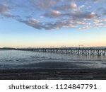 white rock  evening view for... | Shutterstock . vector #1124847791