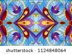 illustration in stained glass... | Shutterstock .eps vector #1124848064
