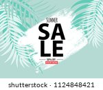 abstract summer sale background ... | Shutterstock .eps vector #1124848421