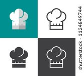 chef hat icons | Shutterstock .eps vector #1124849744