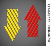two straight arrow ribbon. 2... | Shutterstock .eps vector #1124849855