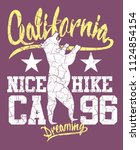 california hike graphic design... | Shutterstock .eps vector #1124854154