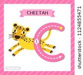 letter c uppercase cute... | Shutterstock .eps vector #1124855471