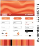 light red vector wireframe kit...