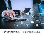coding software developer work... | Shutterstock . vector #1124862161