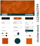 dark orange vector ui ux kit...