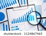 analyzing and gathering... | Shutterstock . vector #1124867465