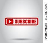 subscribe button icon. vector... | Shutterstock .eps vector #1124870021