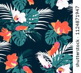 vector seamless tropical... | Shutterstock .eps vector #1124871947