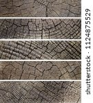 several old cracked wooden... | Shutterstock . vector #1124875529