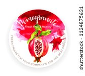Template With Pomegranate Fruit ...