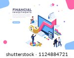 balance financial value ... | Shutterstock .eps vector #1124884721