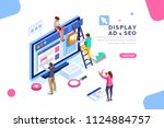 coding people team work... | Shutterstock .eps vector #1124884757